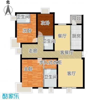 茂华�都会145.13㎡3a1三居户型10室