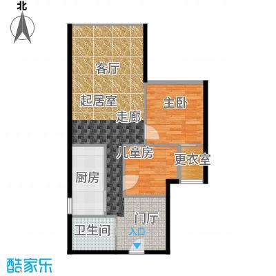 CUV国际公寓93.40㎡E户型10室