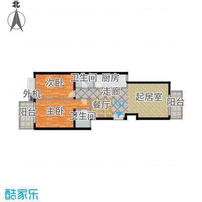 天创公馆116.00㎡A-5户型二室二厅二卫户型
