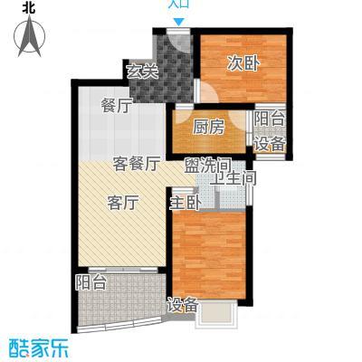 美堤雅城(二期)美堤雅城户型2室1厅1卫1厨