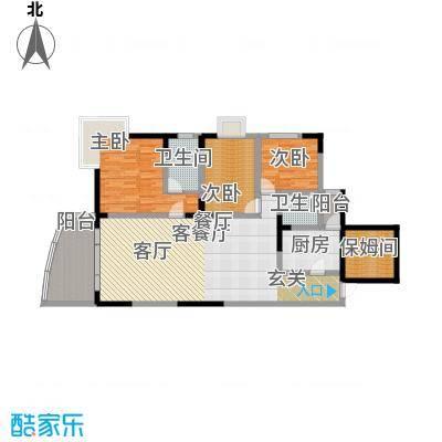 绿洲龙城(二期)120.38㎡房型: 四房; 面积段: 120.38 -120.38 平方米;户型