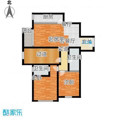 融科・钧廷120.00㎡2A户型2室3厅2卫