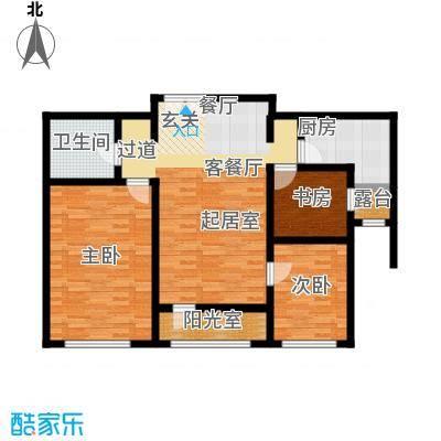 融科・钧廷98.00㎡2C户型2室2厅1卫