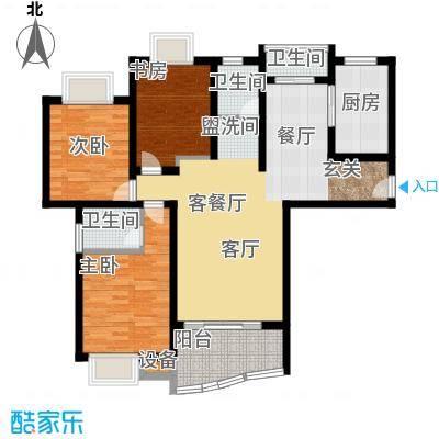 美堤雅城(二期)美堤雅城户型3室1厅3卫1厨