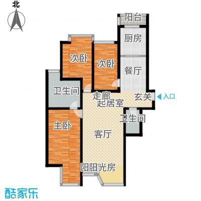 合生・滨江帝景154.00㎡二期A户型3室2卫1厨