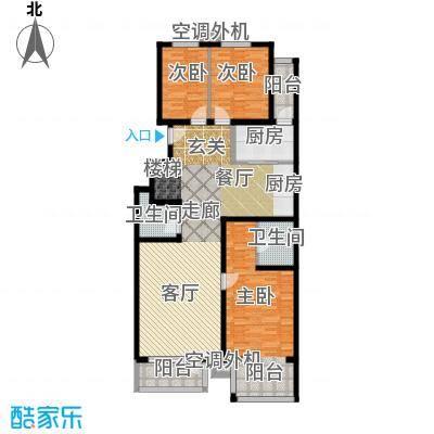 香湾(晶城秀府)136.26㎡下跃层A1(二期)户型