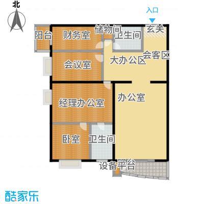 甲方乙方(日月天地)213.12㎡三室两厅两卫户型