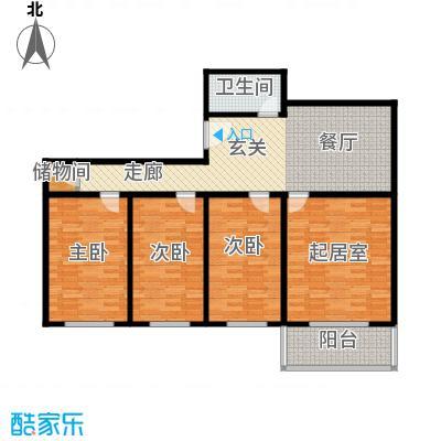 万事吉公寓115.40㎡2室1厅1卫1厨户型