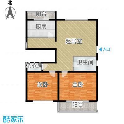 万事吉公寓112.80㎡2室1厅1卫1厨户型