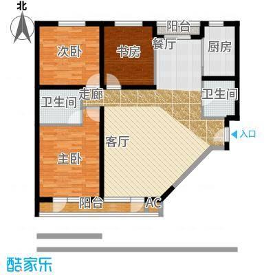 竹天下(未来假日花园二期)104.78㎡2室2厅1卫1橱户型