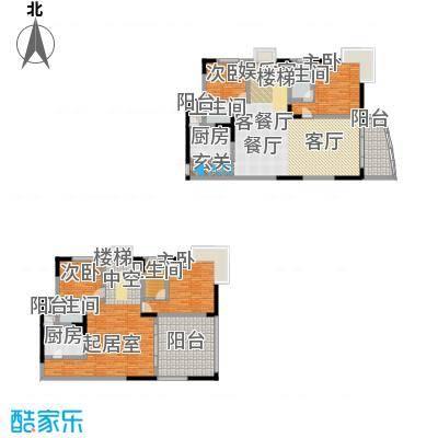 绿洲龙城(二期)199.37㎡房型: 复式; 面积段: 199.37 -215.57 平方米;户型