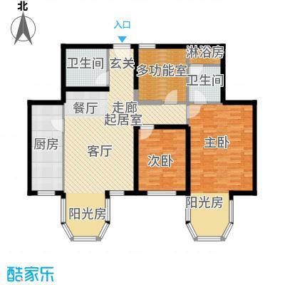 合生・滨江帝景112.92㎡B户型2室2卫1厨