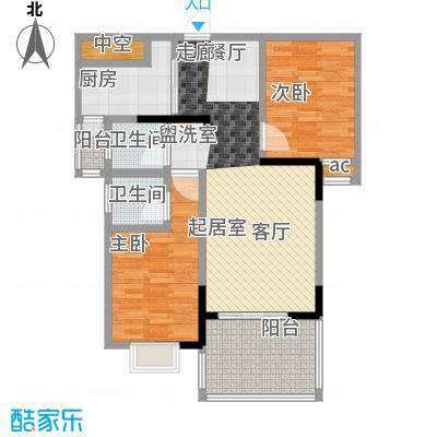 美堤雅城(一期)72.94㎡房型: 二房; 面积段: 72.94 -83.46 平方米;户型