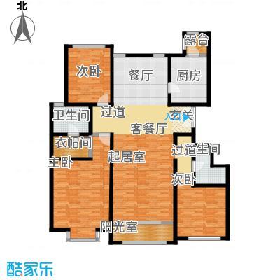 融科・钧廷160.00㎡3B户型3室2厅2卫