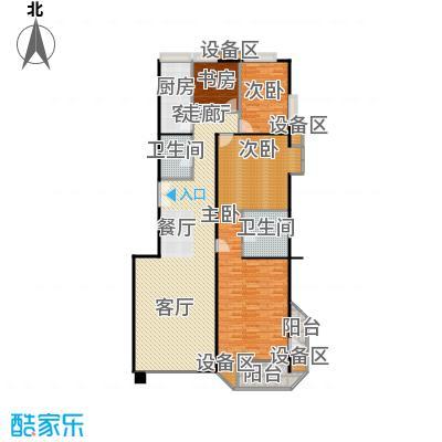 中海凯旋185.72㎡三室二厅二卫户型