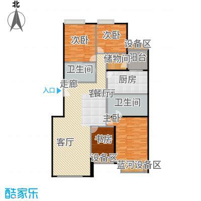 中海凯旋222.16㎡四室二厅三卫户型