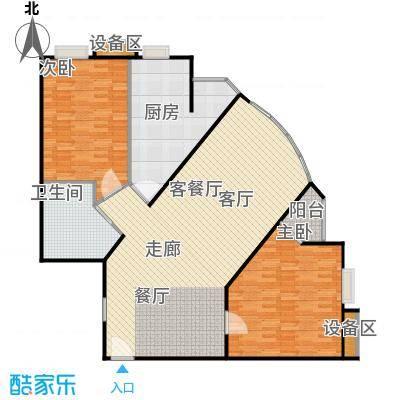 中海凯旋137.51㎡二室二厅一卫户型