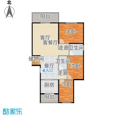 千禧家园116.40㎡C户型3室1厅2卫1厨