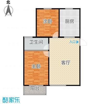 鸿顺园东区92.00㎡C户型2室2厅1卫