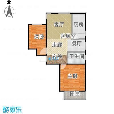 鸿顺园东区89.72㎡D户型10室