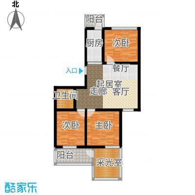 泰鑫嘉苑97.74㎡户型10室