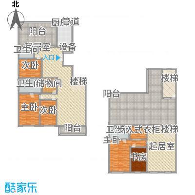 五栋大楼313.00㎡五室三厅三卫户型
