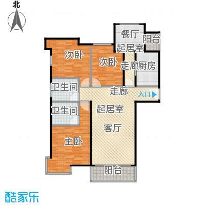 华风龙腾郡137.09㎡B13楼户型3室2卫1厨