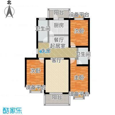 城铁边上的家120.00㎡三室二厅二卫户型