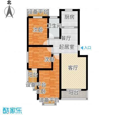 城铁边上的家106.00㎡三室二厅一卫户型