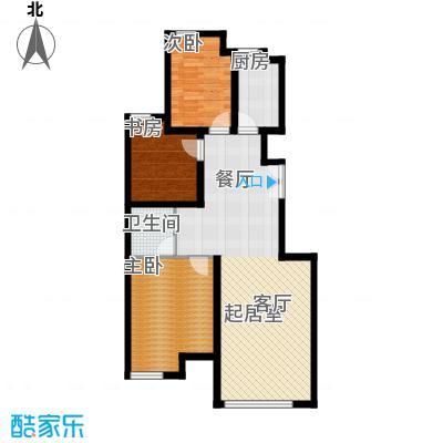 中海苏黎世家94.00㎡B户型2室2厅1卫