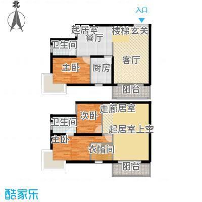 未来明珠135.80㎡三室两厅两卫户型