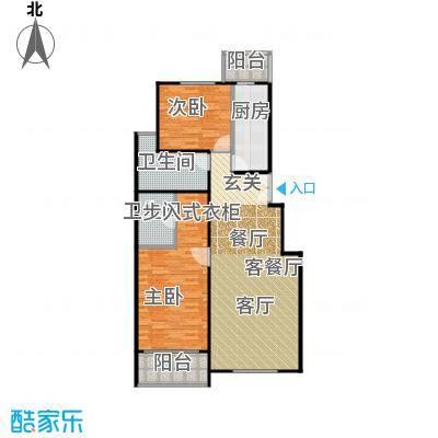 建邦枫景108.00㎡B3反户型2室1厅2卫1厨