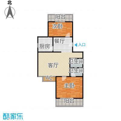 沁馥家园两室两厅一卫户型