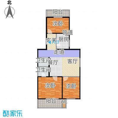 沁馥家园92.76㎡三室二厅二卫户型