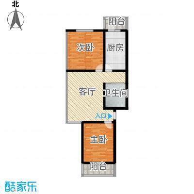 金鑫苑小区92.00㎡E1户型2室1厅1卫