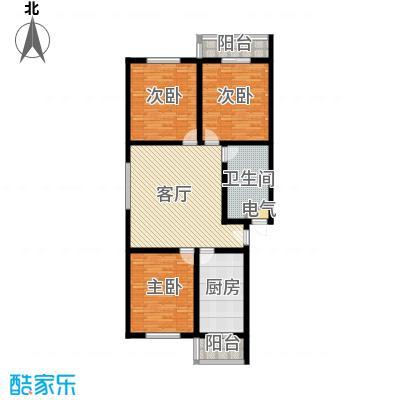 金鑫苑小区116.00㎡D户型3室1厅1卫