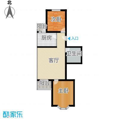 金鑫苑小区91.00㎡B1户型2室1厅1卫