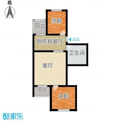 金鑫苑小区85.90㎡户型10室