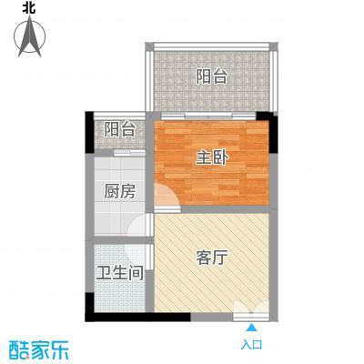 国窖明城(二期)37.46㎡房型: 一房; 面积段: 37.46 -45.23 平方米;户型