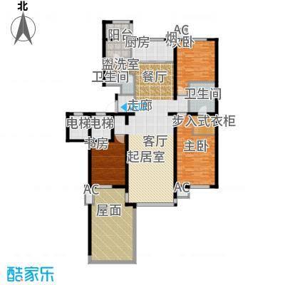 万科紫台170.34㎡F2户型三室二厅二卫户型