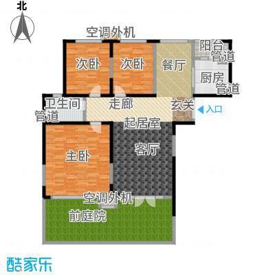 亿城天筑127.00㎡N1户型三室二厅二卫户型