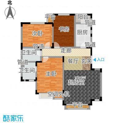 亿城天筑119.00㎡G3户型三室二厅二卫户型