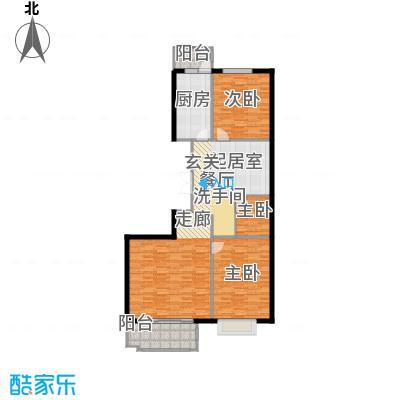 枫南世嘉(亚飞小区)116.45㎡两室两厅一卫户型