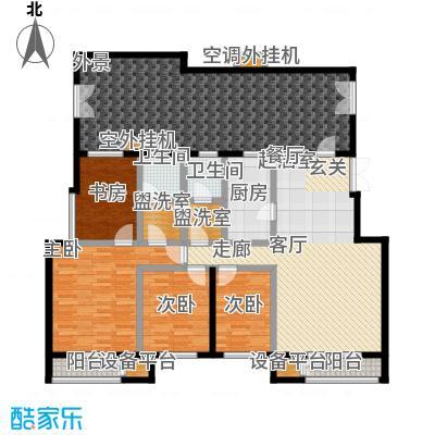 远洋自然179.03㎡8号楼TD1a户型四室二厅二卫户型