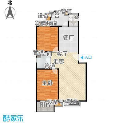 翠海明筑两室两厅一卫 户型