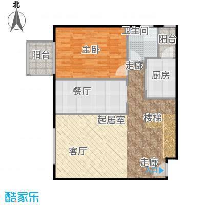 晶城秀府91.74㎡跃层A1下层户型10室