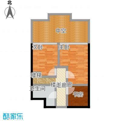 CRD银座55.62㎡豪华旗舰空间二层户型3室1卫