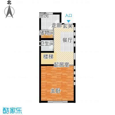 尚东庭72.92㎡A区A3号楼1单元一层户型1卫1厨
