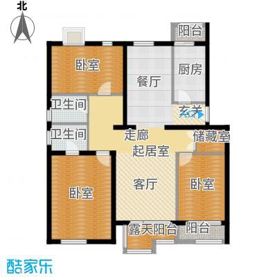 阿尔法社区135.00㎡二期花园洋房西3层户型10室