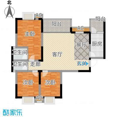 美堤雅城(三期)琴湾美堤雅城琴湾户型3室1厅2卫1厨